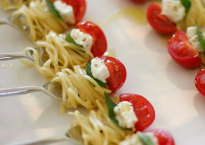 spaghetti on forks